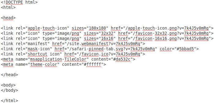 Favicon HTML Code