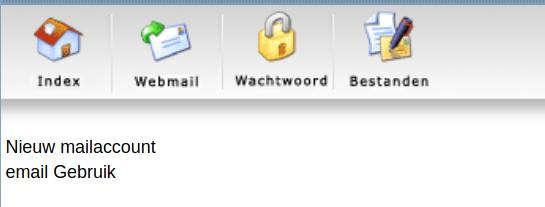 Nieuw mailaccount